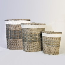 hot sell large wicker laundry basket with lids