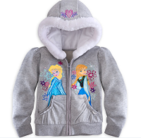 2016 new arrival grey hooded long sleeve with fleece lining children froze hoodie