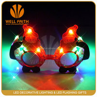 The santa claus figure for Halloween Christmas decoration light up led glasses party