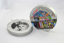 high quality round CD/DVD/VCD tin box