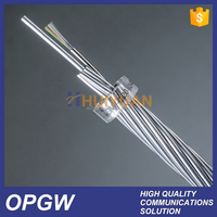 24 Core HUIYUAN high short circuit current capacity OPGW 24 core single mode fiber optic cable