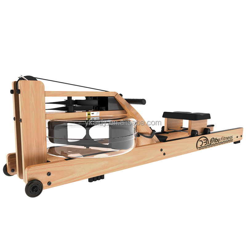Hot sale Fitness Gym equipment wooden frame rower rowing machine commercial concept 2