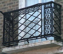 Cheap modern design used wrought iron glass railings for sale