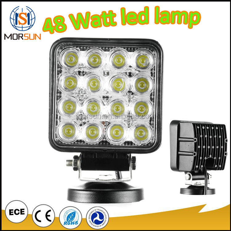 EMC IP67 CE ROHS 24v led truck work lights 48w led work light/offroad work light
