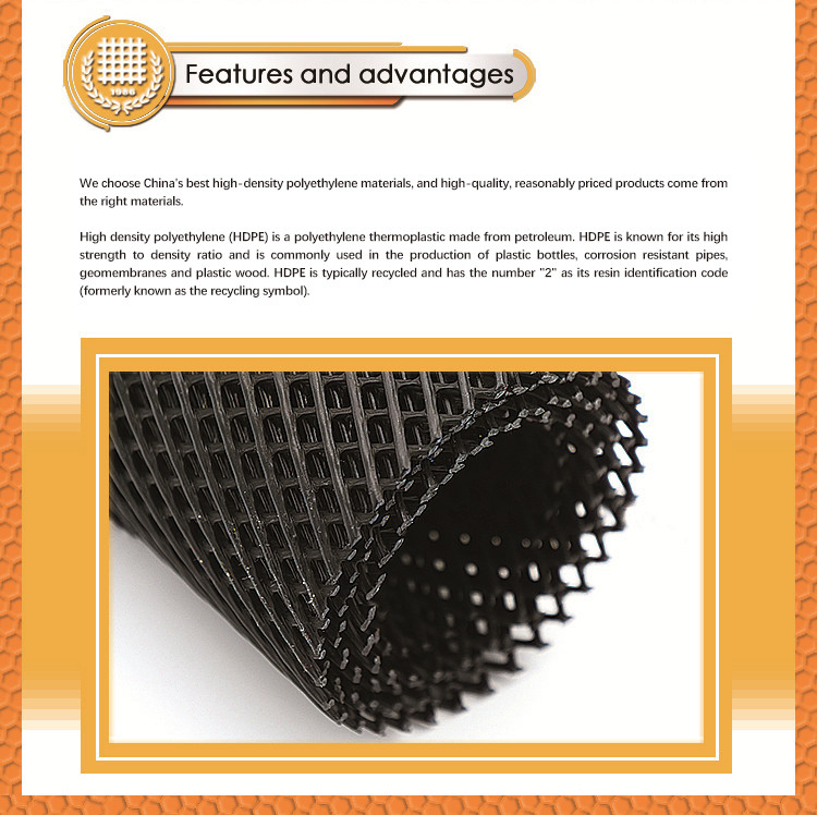 High Quality HDPE Rockshield Extruded Mesh
