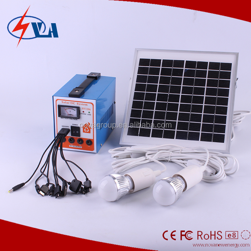 solar panel pole mounting system with bulbs, mobile charger, fan and radio