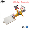 Micro registration 4 color 1 station manual t-shirts carousel screen printing machine
