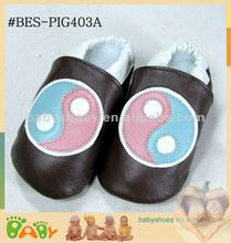 2012 new soft sole pig leather infant shoes