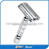 CE certificate safety razor with butterfly handle for men's shaving