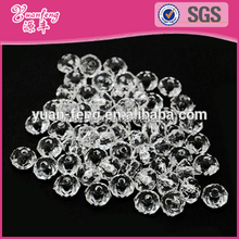 Wholesale clear crystal color diamond shaped acrylic faceted chunky beads