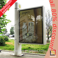 billboard advertising led advertising light box outdoor waterproof aluminum led light picture frame with pole