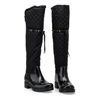 2016 Warm PVC Winter Waterproof Over the Knee sexy Boots for Women