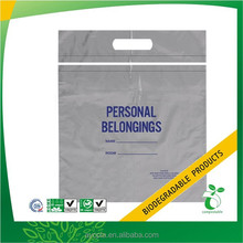 Biodegradable Plastic Recyclable Die Cut Poly Bags, Printed Personal Belonging Bag