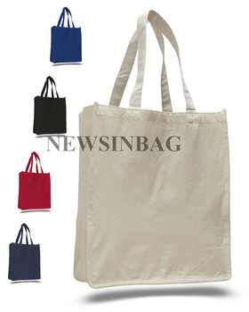 NEWSINBAG White Offwhite Canvas Tote Bag For Gift