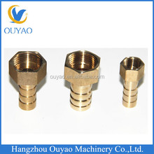 cnc machining parts available brass female barb hose adapter for garden pipes