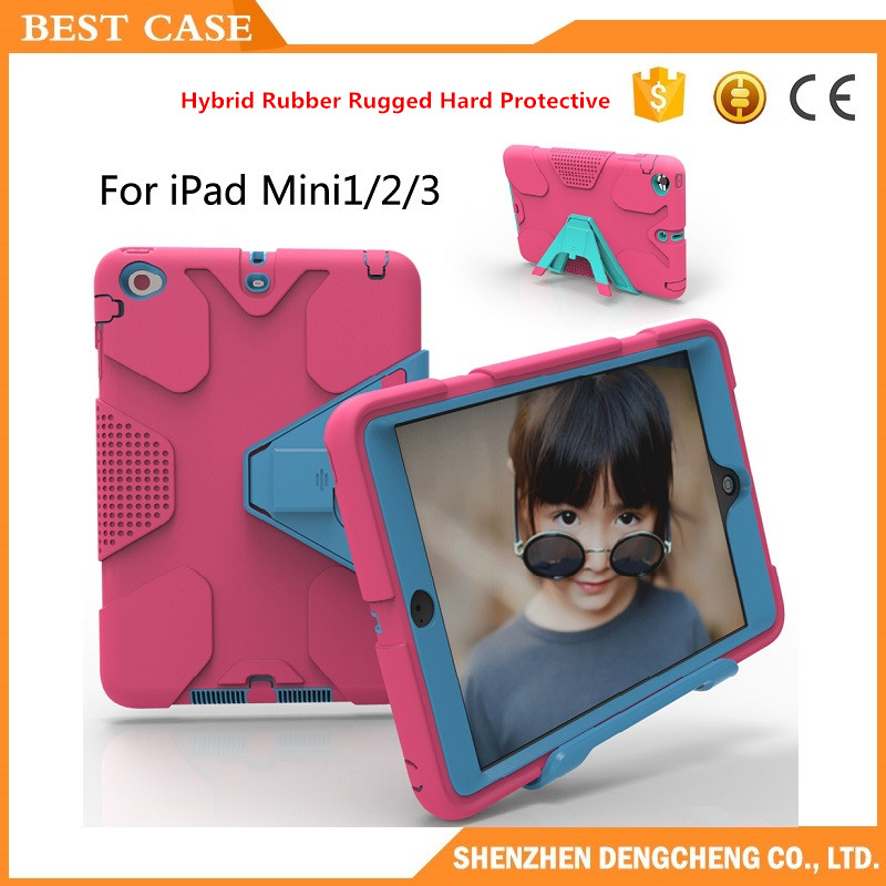 For iPad Mini Case EVA Heavy Duty Shockproof Hybrid Rubber Hard Protective Cover Laptop Case
