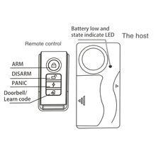 Best Wireless Remote Control vibration motorcycle anti theft alarm security for door window car bike 2AAA battery operated