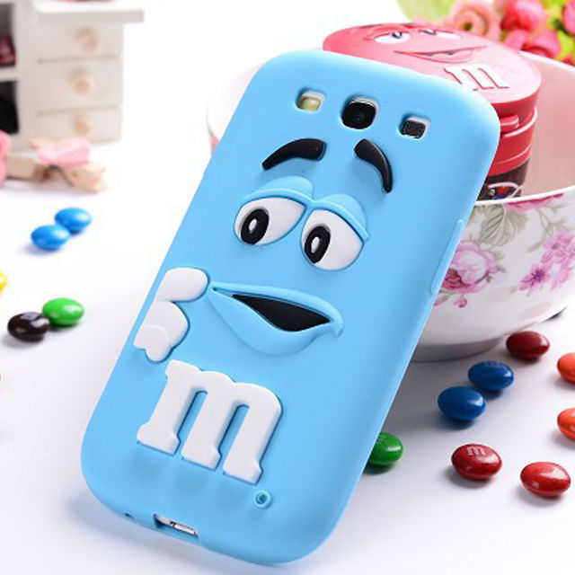 Cute Rainbow Bean Silicone Cell Phone Case for Samsung Galaxy S3 i9300