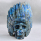 High Quality Labradorite Indian Cchief Skull Hand Carved Crystal Skull
