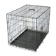 Trade assurance folding puppy pet cage dog Crate in black with bedding