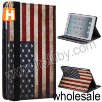 Retro USA Flag Flip Leather Stand Case for iPad Mini