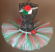 red white and green July 4th skirt wholesale colorful tulle christmas tutu skirt for baby girls children tulle skirt
