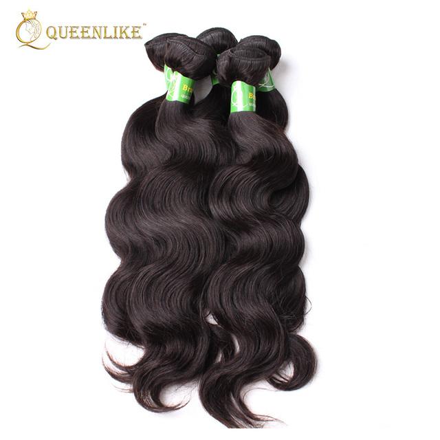 Natural Black 3 Pcs/Lot virgin human Hair Bundles 18