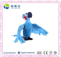 Lovely CE Testing Opening Wings Plush Parrot Toy