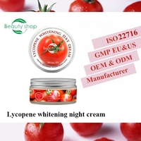 Private Label Lycopene Face Whitening Cream/ Whitening Night Cream 50g