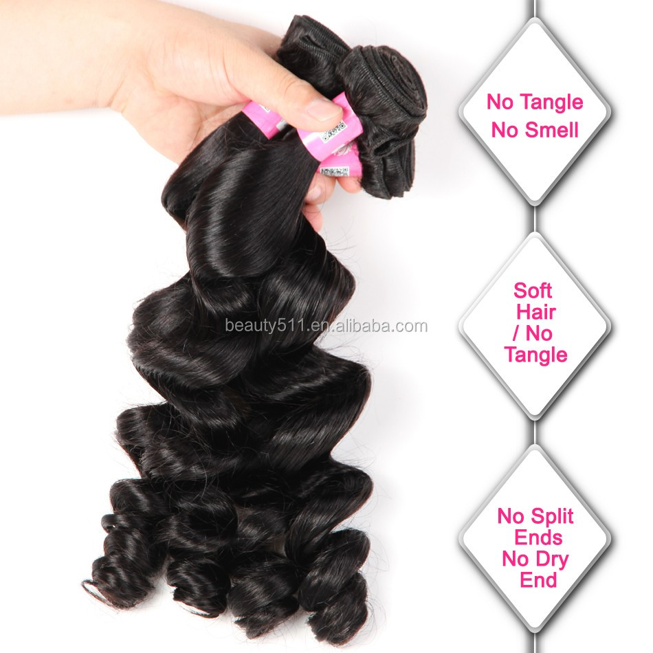Real Picture Aliexpress Loose Wave 8A Grade Mink Brazilian Hair HS0401