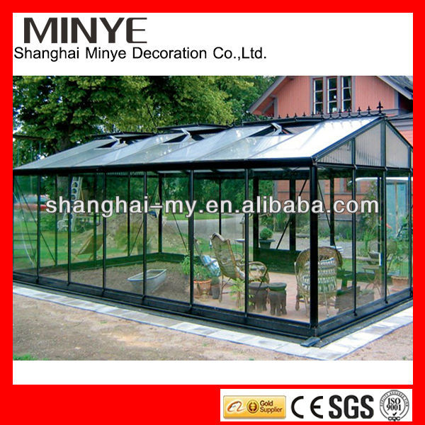 2018 factory design aluminum sun room/winter garden/glass sunroom/greenhouse