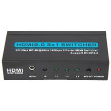 HDMI 2.0 HDMI 3x1 Switch HDMI Switcher Support 4Kx2K/60HZ,HDCP 2.2