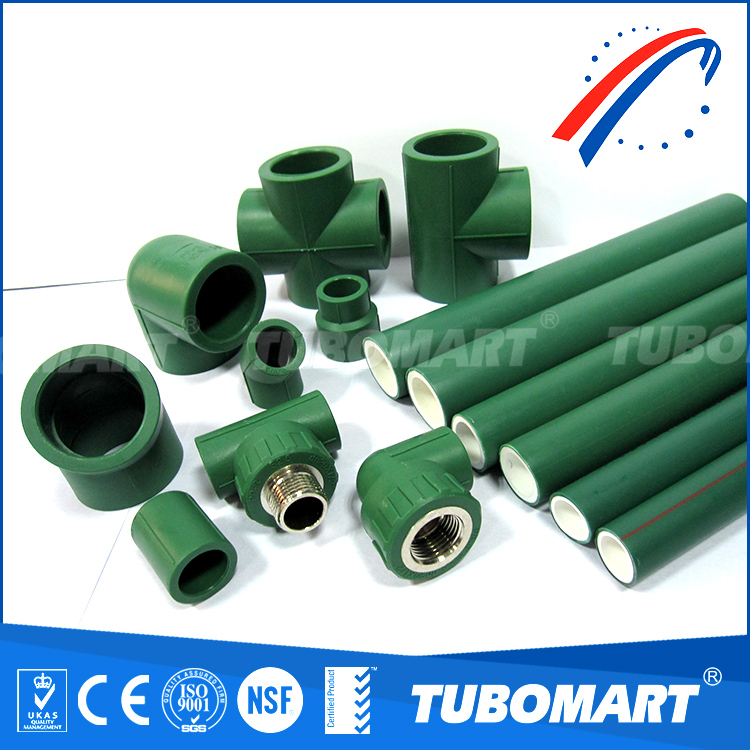 Widely use All Type Sizes Plastic Tube Green PPR Pipe for drink water