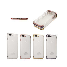 Soft Clear TPU Electroplating Bumper Case For iPhone 6 Cover