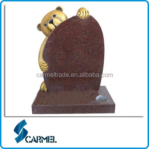 Cheap granite teddy bear headstone for child