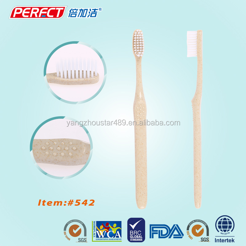 Recycled Eco-friendly Tooth Brush Wheat Straw Toothbrush Material