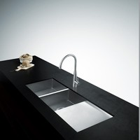 Customized Design kitchen sink, Stainless Steel SUS304 Kitchen Sink , double bowl kitchen sink with tray , Straight L