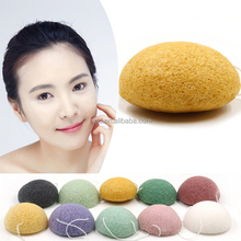 Natural japanese 100% Facial cleansing green tea Bamboo Charcoal konjac sponge