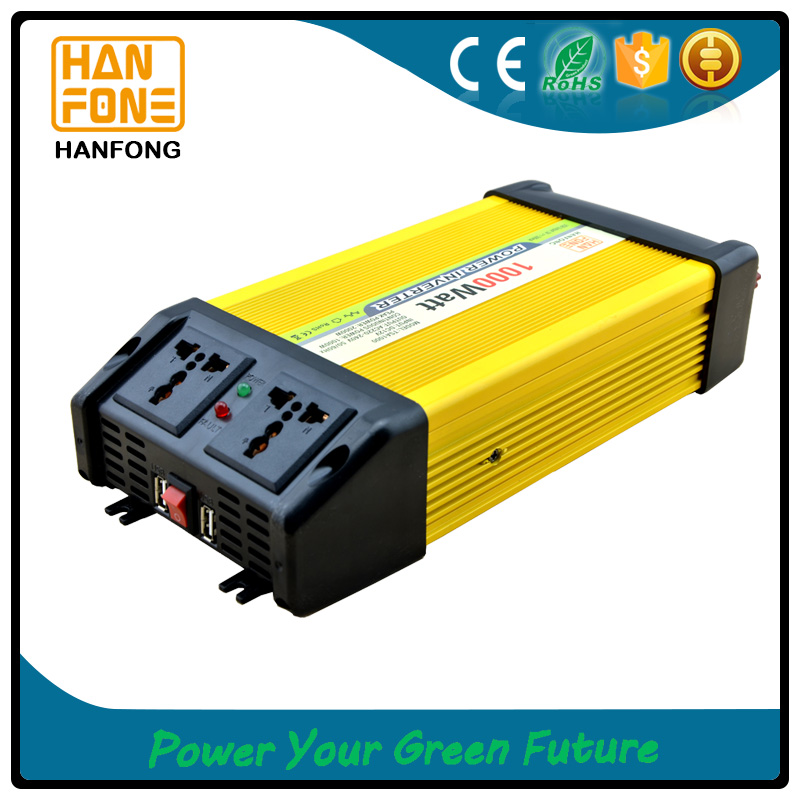 1000w power converter with dual socket and fashion design made in china off grid solar converter/car power converters
