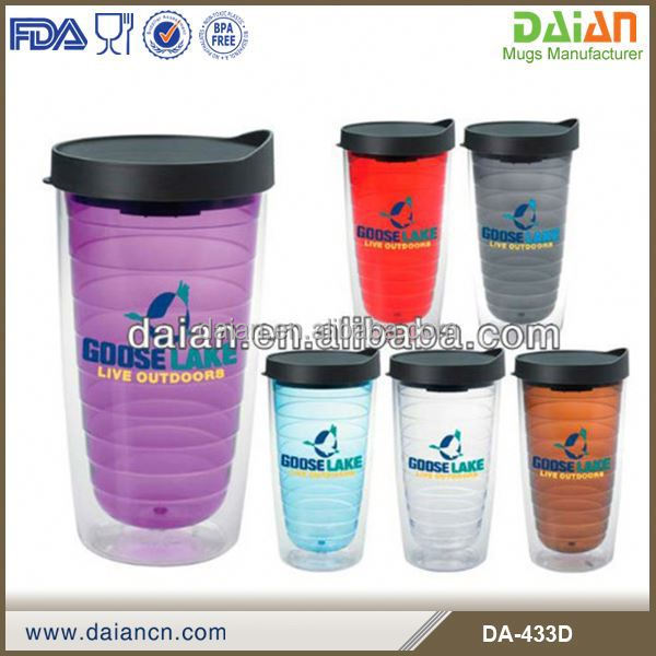 Hot Sale 16 oz clear logo high quality plastic cup with straw