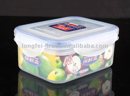 rectangle 1000ml pp material plastic container for food storage