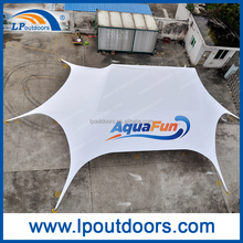 large aluminum pole star shade tents with logo