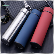 500ml Business men's high-end stainless steel vacuum Keep warm water bottle for office car