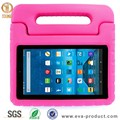 Kid Proof Silicone Kids 7 Inch Tablet Case, Handle Stand EVA Case for Amazon Fire 7 2015