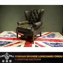 latest vintage special design leather corner sofa armchair K692