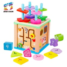 2019 New arrival educational wooden activity cube <strong>game</strong> for toddlers W12D172