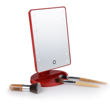New design led compact mirror and led desktop mirrors with touch screen sensor switch for light up dressing mirror