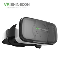 High quality vr glasses Virtual Reality 3D Glasses Headset Google Cardboard VR box for IOS and Android smart from shinecon