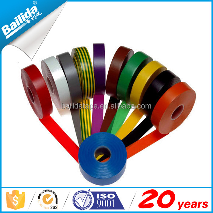 Wholesales manufacturer A grade rubber shiny pvc insulation electric tape