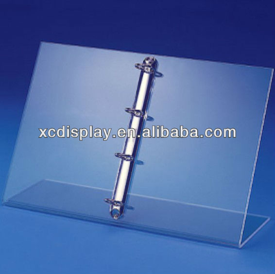 Tabletop Acrylic Ring Binder Stand